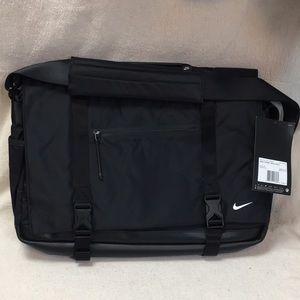 Nike Eugene Leather Bottom Messenger Bag NWT